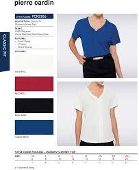 Pierre Cardin Polo Shirt Size Chart Pierre Cardin Womens Top Pcks386 Uniform Tops With Logo