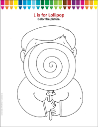 L Is For Lollipop Coloring Page Printable Coloring Pages
