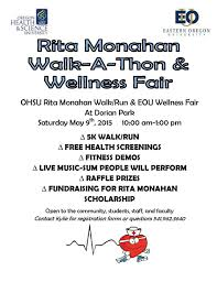 Walk A Thon Wellness Fair May 9 Eastern Oregon University