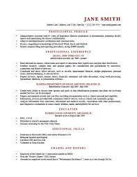 Resume Templete Magnificent Professional Profile Resume Templates Resume Genius