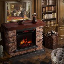 corvus stacked stone mantel electric flame fireplace with