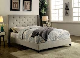 Furniture of America Anabelle Warm Grey Platform Bed CM7677GY