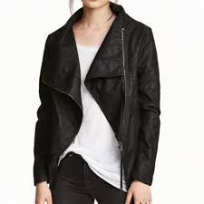 hm vegan leather jacket