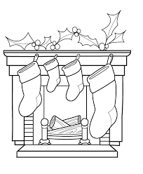 Small Picture Kids Coloring Pages of Christmas Stockings Waiting for Gifts