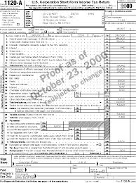 form 1120a publication 542 corporations sample returns