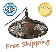 hanging downrod outdoor ceiling fan bronze oil rub pavilion patio porch gazebo
