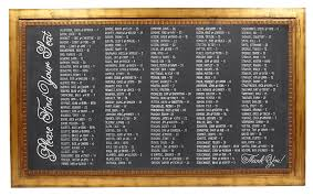 Chalkboard Gold Wide Xxl
