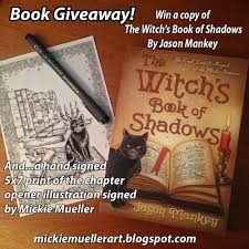 tales from the old wooden art table book giveaway the witch s book of shadows by jason mankey