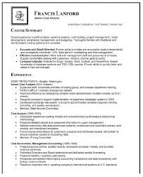 Cover Letter Analyst Resume Examples Logistics Analyst Resume