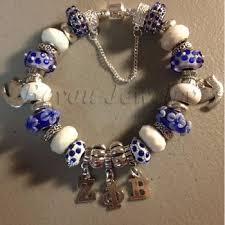 fashion zeta phi beta jewelry with beads and charm design bracelet greek letter charm