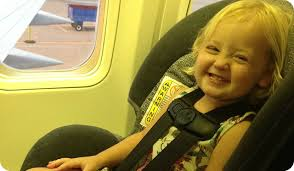 how to install a car seat on a plane