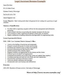 Various Resume Formats For More And Various Legal Resumes Formats And Examples Visit Www