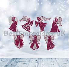 Free Standing Lace Easter Designs Christmas Angel Fsl Embroidery Designs 7 Set Free Standing Lace Embroidery Design Christmas Design Angel Embroidery Ornament