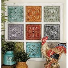 metal and wood wall decor on turquoise wood and metal wall art with metal and wood decor wayfair