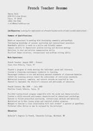 Resume In French French Cv Example Resume Samples French Teacher Resume Sample 22