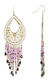 image of mistraya jewelry eva austrian crystal filigree chandelier earrings