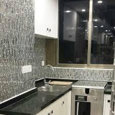 ... Metallic Backsplash Tile Diamond Stainless Steel Metal and Crystal  Glass Mosaic Wall Decor HC-119 ...