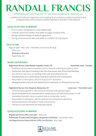 Resume Templates For Nurses Resume Template Professional Registered Nurse Example Eager World 40