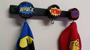 Superhero Coat Rack Superhero Cape Coat Wall Hooks on Frame Theme my Room 27
