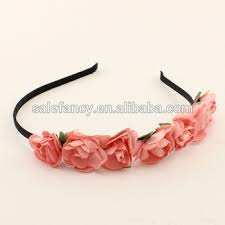 Paper Flower Headbands Crown Paper Flower Garland Headband Wholesale Qfhd 8010 Buy Paper