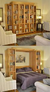murphy bed home office combination. With A Bi-fold Bookcase Wall Bed, You Can Take Convertible Furniture To Whole New Level. Make Use Of The Normally Blank Front By Storing Books, Pictures, Murphy Bed Home Office Combination L
