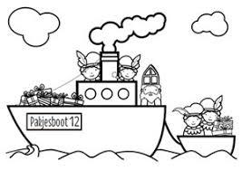 Kleurplaat Sinterklaas Pakjesboot 111 Best Sinterklaas