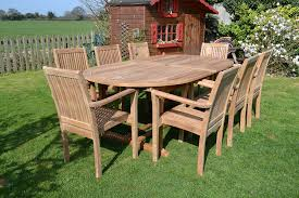clean teak wood outdoor furniture