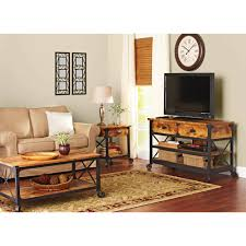 better homes gardens rustic country tv stand for tvs up to 52 antiqued black pine finish com