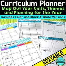 Curriculum Planning Calendar Templates Editable Maps Pacing Long