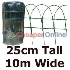 green pvc coated garden border fence fencing wire mesh. 10m x 25cm of green pvc plastic coated metal garden border / fence pvc fencing wire mesh b