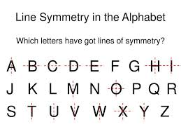Lines Of Symmetry Powerpoint How Many Letters Of Alphabet Are Symmetrical A Line Best Of