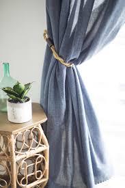 Designer Curtain Tie Backs 10 Diy Curtain Tieback Ideas That Dont Look Cheap Diy