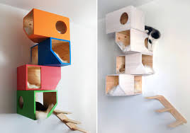 cool cat tree furniture. Catissa Geometric Design For Cats Cool Cat Tree Furniture T