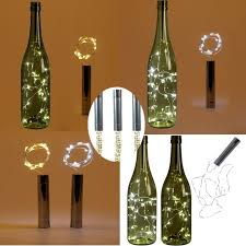 How To Make Decorative Wine Bottle Stoppers 100 LED Battery Powered Plating Wine Bottle Stopper Copper DIY Cork 63