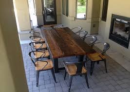 long wood dining table: reclaimed timber dining room reclaimed timber dining table reclaimed timber dining room