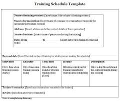 Sample Of Training Schedule Template. Training Schedule Template 8 ...