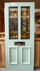 victorian style 2 panel stained glass front door