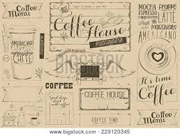 Coffee Menu Beauteous Coffee Menu Placemat Vector Photo Free Trial Bigstock
