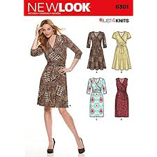 Wrap Dress Sewing Pattern Interesting Wrap Dress Patterns Amazon