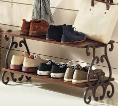 I wonder if I could make this, it seems pretty simple. (Moran Shoe Rack -  mediterranean - shoeracks - by Pottery Barn)
