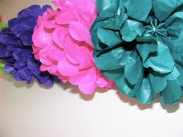 tissue pom pom s after seeing some at a wedding the other weekend they were easy and i found everything i needed to know about making them on