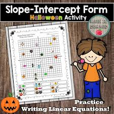 slope intercept form activity writing linear equations