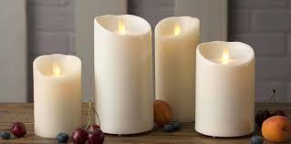 luminara wax candles candles luminara 8 ivory wax taper candles set of 2