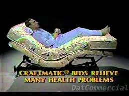 Craftmatic Adjustable Bed mercial 1985