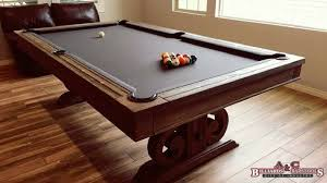 correct pool table dimensions to leave