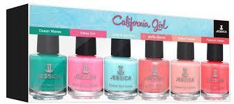Jessica Laky Na Nehty California Girl Dárková Sada 6ks Krasné