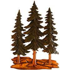 on wood pine tree wall art with pine grove carved wood wall art