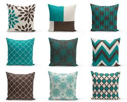 outdoor pillows teal brown beige home decor throw pillows outdoor throw pillows13