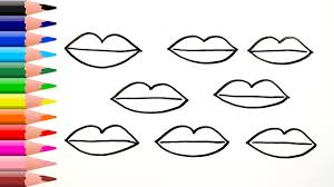 Small Picture How to Draw Lips Coloring Pages For Children and Toddlers Art