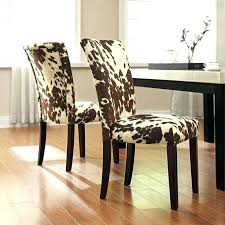zebra chair covers animal print dining chairs parson